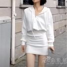 huyoyo 白無禁忌的天使寶貝小巫師白色連帽衛衣洋裝秋裝仙女裙 小時光生活館