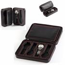 手錶盒碳纖維簡約2 4 8位拉鏈手錶首飾收納包 PU便攜式旅行名錶盒展示箱