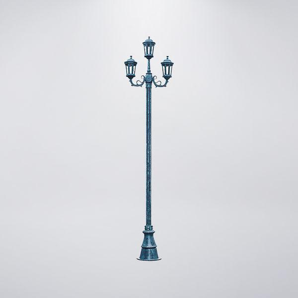 歐式戶外庭園燈 三燈防水型 可客製化 可搭配LED