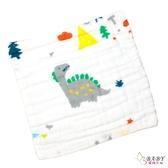 泡泡六層紗布小方巾 五入組 恐龍 | 背巾方巾 (嬰幼兒童/寶寶/新生兒/baby)