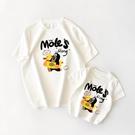 親子裝 全棉T恤 卡通印花親子裝短袖 母子母女裝洋氣新款 2020夏季