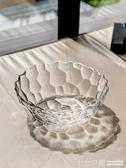 家用玻璃果斗創意客廳擺件歐式大號水果盤果籃干果盤透明玻璃碗