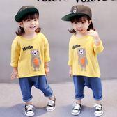 女寶寶長袖t恤0女童1純棉秋季新款韓版3歲嬰兒童休閒打底褲潮 CY潮流站