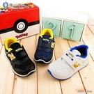童鞋城堡-兒童透氣運動鞋 極簡設計 神奇寶貝(寶可夢) PA7330 白/黑/藍(共三色)