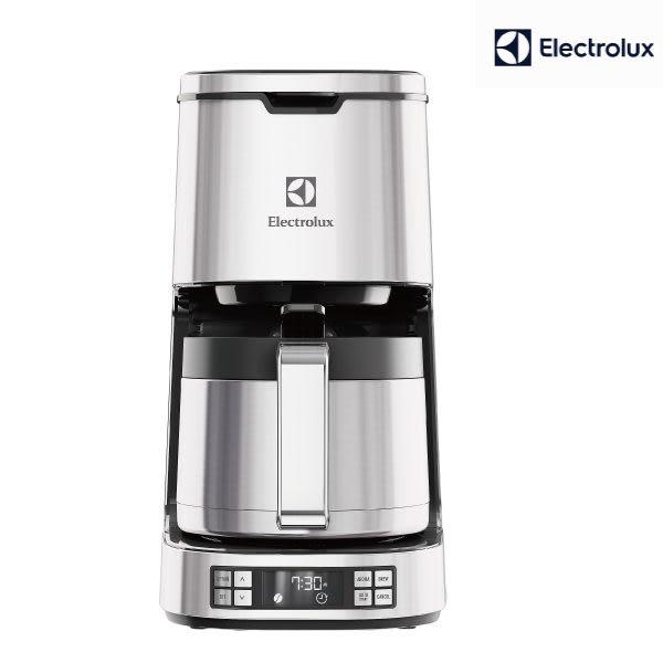 伊萊克斯Electrolux設計家系列 美式咖啡機ECM7814S銀 (贈ECG3003S磨豆機)