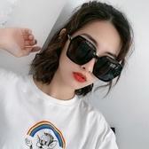 新款網紅街拍偏光太陽眼鏡女潮圓臉墨鏡ins韓版防紫外線大框 極簡雜貨