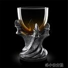 洋酒杯 創意3D外貿原單手爪玻璃高腳杯個性骷髏爪子威士忌啤酒洋酒杯 洛小仙女鞋