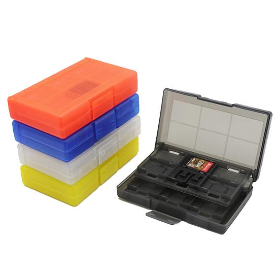 [哈GAME族]滿399免運費 可刷卡●可放24張卡夾+2張TF卡●Switch NS 24合一 卡匣收納盒 卡夾盒 五色