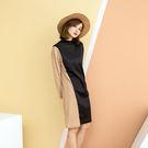 適合春秋的薄款針織羅紋布料怕透的美眉就加買本公司基本款襯裙大氣設計有時尚都會風非常修身顯瘦顯高!
