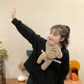 圍巾 冬季卡通毛絨絨小熊圍巾女日系學生百搭羊羔絨加厚可愛萌圍脖-Ballet朵朵