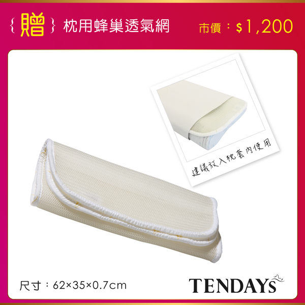 記憶枕_TENDAYs-DS柔眠枕(晨曦白)8cm高 買加贈