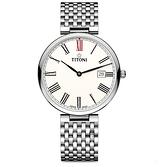 TITONI 梅花 纖薄系列 SLENDERLINE 瑞士機械錶 82718S-608