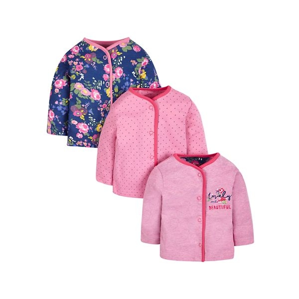 mothercare 3入復古玫瑰上衣-G12(M1JB949)09~36個月