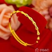 沙金首飾越南沙金竹節推拉手鐲女款飾品禮物 【快速出貨】