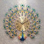 孔雀掛鐘客廳歐式鐘錶創意時鐘家用裝飾掛錶壁鐘靜音電子鐘石英鐘 任選一件享八折