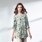 【ST.MALO】南洋輕活亞麻襯衫-1661WS-鳳梨花版