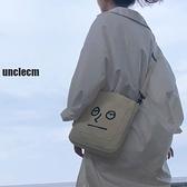韓版小清新學生文藝單肩包女 簡約手提袋韓國百搭原宿斜跨帆布包