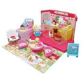 〔小禮堂〕Hello Kitty 蛋糕甜點店玩具組《粉.泡殼裝》扮家家酒.兒童玩具 4978902-00423
