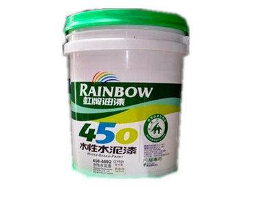 【台北益昌】虹牌450 平光水泥漆 5加侖 白色 百合白 玫瑰白 共三色 下標請告知所需顏色