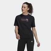 Adidas DISNEY 女款黑色米妮短袖上衣-NO.GS0248