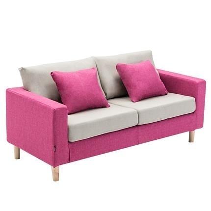 北歐簡約雙人小戶型布藝沙發公寓客廳臥室店鋪沙發網紅款 亞斯藍