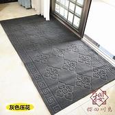廚房防滑防油可擦吸水地毯地墊門墊絨面家用【櫻田川島】