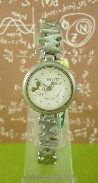 【震撼精品百貨】米奇/米妮_Micky Mouse~手錶-圓型錶面-小頭圖案-銀白色【共1款】