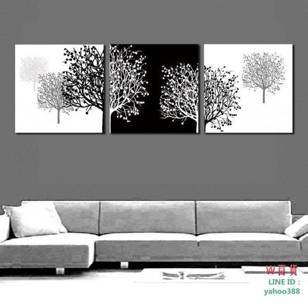 裝飾畫 無框畫 版畫 壁畫 墻畫  黑白發財(W210)