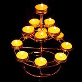 佛教用品酥油蓮花燈座家用長明燈供佛七星酥油燈架寺廟臘燭臺【onecity】