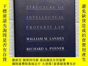 二手書博民逛書店The罕見Economic Structure of Intellectual Property Law(英文原版