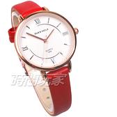 DUKE NICLE 尼克.公爵 羅馬時刻 典藏記憶 時尚腕錶 高質感皮革 女錶 學生錶 紅 DN1806-3