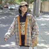 夾克 外套女秋冬新款寬鬆韓版bf百搭學生兩面穿夾克ins潮 港仔會社