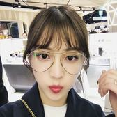 現貨-韓版ulzzang時尚百搭平光鏡網紅眼鏡架女平光鏡金屬不規則復古藝員眼鏡框架118