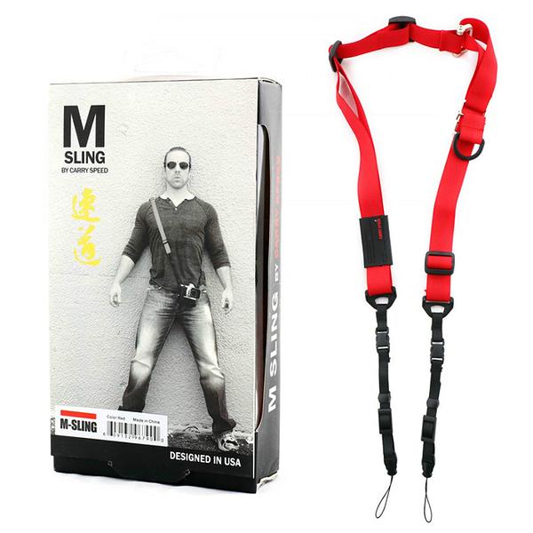 【EC數位】 美國 CARRY SPEED 速必達 M-Sling 單雙肩兩用背帶 紅色款 相機背帶 減壓防滑帶 公司貨