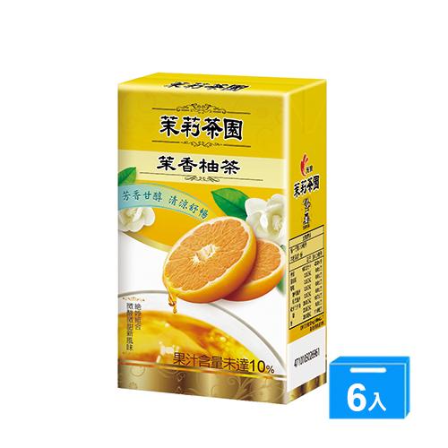光泉茉莉茶園-茉香柚茶245ml*6入/組【愛買】