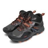 Merrell 戶外鞋 MQM Flex 2 Mid GTX 黑 橘 男鞋 Gore-Tex 防水 越野 運動鞋 【PUMP306】 ML034225