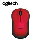 【logitech 羅技】M221 靜音無線滑鼠 紅 【限量送束口收納袋】
