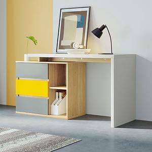 林氏木業現代簡約百搭跳色經濟型組合轉角書桌DJ1V V2