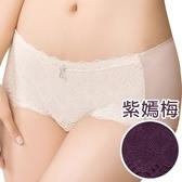 思薇爾-撩波系列M-XL蕾絲中低腰平口內褲(紫嫣梅)