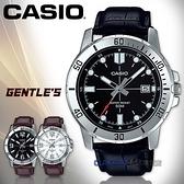CASIO 卡西歐 手錶專賣店   MTP-VD01L-1E 指針男錶 皮革錶帶 黑色錶面 日期顯示 MTP-VD01L