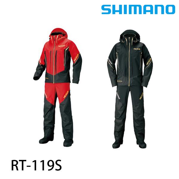 漁拓釣具 SHIMANO RT-119S 黑/紅 +6 #2XL #3XL [釣魚套裝]