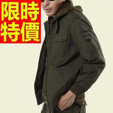 軍裝外套-軍旅風純棉休閒男外套62o15【巴黎精品】