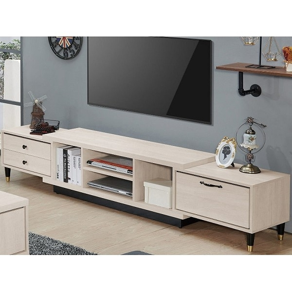 電視櫃 QW-375-2 曼特寧5.6~8尺伸縮電視櫃【大眾家居舘】