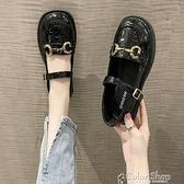 英倫風小皮鞋女2021春秋新款復古平底瑪麗珍鞋日系圓頭厚底女單鞋 快速出貨