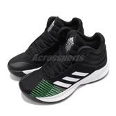 adidas 籃球鞋 Pro Spark Low 2018 K Wide 黑 白 高筒 運動鞋 女鞋 大童鞋【PUMP306】 B96478