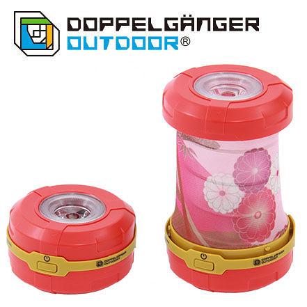 日本 DOPPELGANGER 燈籠式兩用LED燈 紅/菊花 L1-214