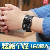 個性男士方形初中學生防水潮男兒童青少年運動電子錶SMY1243【123休閒館】