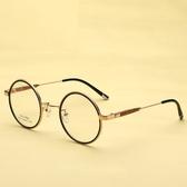 鏡架(圓框)-韓版復古潮流時尚男女平光眼鏡6色73oe24【巴黎精品】