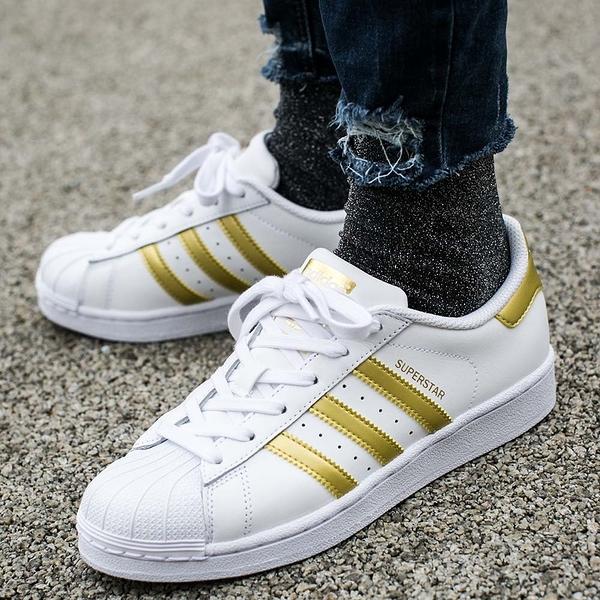 ISNEAKERS adidas Original Superstar 黃金 復古 休閒  貝殼頭 白 金 金標 BB2870