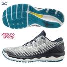 MIZUNO WAVE SKY WAVEKNIT 4 男鞋 慢跑 輕量 ENERZY 回彈 白黑藍【運動世界】J1GC202501